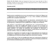 ZONA ESPECIAL DE PROTECÇÃO DA QUINTA DE VALFLORES | Parecer da ADAL